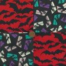 Ghosts Bats in the Belfree Belltower Craft  Fabric Quilt Squares Blocks sz1