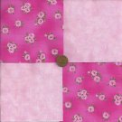 Soft Roses Fabric 100% Cotton Pink Quilt Squares craft Kit zd1