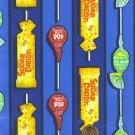 """I Spy 6 by 9 inch Blowpop Tootsie Sugar Daddy Candy Novelty Fabric 6"""" x 9"""" piece"""