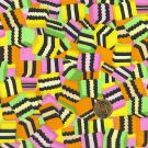 """I Spy 6 by 9 inch I Spy Black Licorice Candy Novelty Fabric 6"""" x 9"""" Quilt Square"""