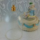 RARE Hard to Find Clown Music Box with Etched Dome plays Memories bs2