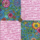Breast Cancer Awareness Whimsy Cotton Fabric Squares Squares rbx2