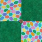 Green  Eggs  4 inch 100% Cotton Novely Fabric  Squares FS2