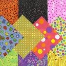 Specs  Spots  Dots Stash Builder  4 inch 100% Cotton Novely Fabric  Squares FK1