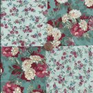 Gorgeous Flowers Unique 4 inch 100% Cotton Novelty Fabric  Squares FS2