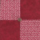 Glorious Red Flowers   4 inch 100 % Cotton Novelty Fabric Quilt Squares TB1