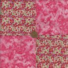 Just Peachy Fabric 4 inch Cotton Fabric Quilt Squares Novelty Block zk1