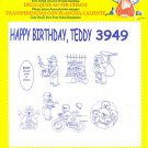 Aunt Martha's Iron on Happy Birthday Teddy 3949 Embroidery ZDS1 0 43272 00103 0