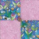 Pretty little Pink Springtime Cotton Craft Quilt Fabric Squares wz1