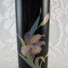 Porcelain Black Orchid OTAGIRI Vase Gold Trim Beautiful Collectible tblqd1