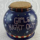 Bella Casa GANZ Girls Night Out Jar Ceramic Cork Fund Money Bank Adorable tblpo1