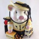Ceramic Pig Shoe Fund Bank Money Fund Jar Shopping Hog Multi Colored tblwk1