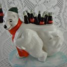 Coca-Cola Polar Bear Mascot 1997 Ceramic Figurine Sharing Cola Greetings tblru1