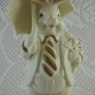 K's Collection Ceramic Bunny Rabbit With Umbrella Figurine Shabby Rose tbleu1