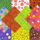 I Spy Dot Spots Smudge Asst  4 inch 100% Cotton Novelty Fabric Quilt Squares YW1