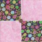20 4 inch Hard Candy Sweets Bubble Gum Novelty Fabric Squares 100% Cotton osr3