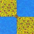 Razzle Blooms Blue 100% Cotton  Fabric  Blocks Crafting  Quilting  LP1