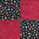 Sugar Gumddrops Red  4 inch Fabric Quilt Squares Block ZT1