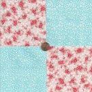 Flowers Beautiful Gentle Dainty 100% Cotton Fabric Quilt Square Blocks GE
