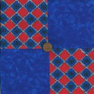 Spiderman Spider in Blue 4 inch Fabric Quilt Craft Squares CK