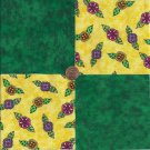 Bright Whimsy Flowers Green  4 inch 100% Cotton Novelty Fabric  Squares ffs1