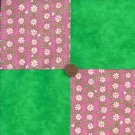 Fresh Cut Daisies  Cotton Fabric Quilt Squares Kit  zg1