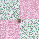 Pinks with Flowers Hearts  4 inch 100 % Cotton Novelty Fabric Quilt Squares TC1