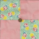 FLOWERS FLORAL PEACH 4 inch Fabric Quilt Squares Block ZR1