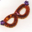 Sequin Ruby Red Glasses Applique Patch Lovely Jewelry Fashion Accessory ZDS2