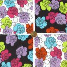 Multi Color Flowers Cotton Fabric Quilt Squares Novelty Sewing zi1