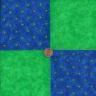 Lime Colored Florals Cotton Fabric Craft Quilt Squares  Blocks wz1