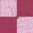 Pink on Pink on Pink  4 inch 100% Cotton Novelty Fabric Quilt Squares kW1