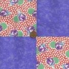 Purple Roses 4 inch Fabric Craft Quilt Squares  Block zp1