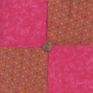 Paisley Print Flowers Pink  4 inch 100% Cotton Novely Fabric  Squares FK1