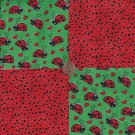 Lovely Little Ladybug Lady Bug 100% Cotton Fabric Quilt Square Blocks kit  EU