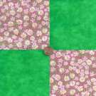 Daisies and a Fresh Cut Lawn  4 inch Cotton Craft Quilt Fabric Square wz1