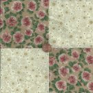 Golden Vintage Floral Assorted 4 inch Cotton Fabric Squares Blocks AW1