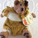 Bear Sitting Bear Indian  by Russ Berrie Inc Cute Addition to Collection tblms1