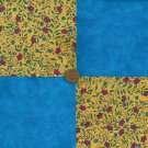 FLOWER FLORAL 92   4 inch Fabric Quilt Squares Block zs1