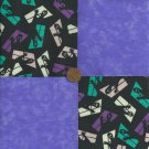 Ghost in Window Purple Fabric Quilt Squares Kit 100% Cotton za1