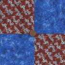 4 inch Flowers Blue  Cotton Fabric Quilt Squares 100% Cotton Kit za1