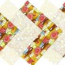 20 4 inch Cupcake and Vanilla Swirls Fabric Quilt Craft Squares OSR5