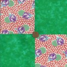 4 inch Roses and Green  Cotton Fabric Quilt Squares zg1
