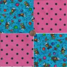 Sweet Bee with Black Dots  4 inch 100% Cotton Novelty Fabric Quilt Squares TB1