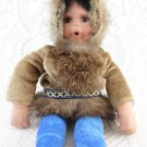 Eskimo Plush Stuffed Toy Porcelain Head and Arms Thumb Sucker tblwk1