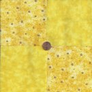 Gold  Stars Yellow Solid Star Stash  100% Cotton Fabric Quilt Square Blocks  EU