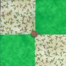 Touch Your Heart Tiny Rosebuds Fabric Quilt  Craft Squares Charms MY8