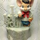 I LOVE YOU Mouse Capers 1994 San Francisco Music Box Company One of a Kind tblbs