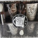 Home Essentials and Beyond Eight Piece Coffee Mugs and Spoons Set.  Home Decor Kitchen tblhx1