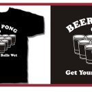 BEER PONG T-Shirt drinking game college small